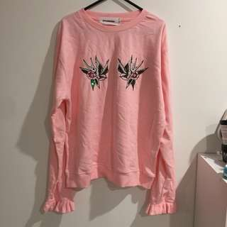 stylenanda pink graphic sweater