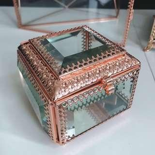 全新 玻璃 復古首飾盒