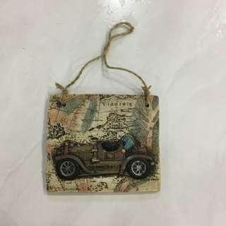 Vintage ceramic art automobile