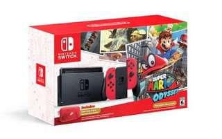 Nintendo Switch (Mario Odyssey Ver.)