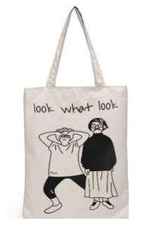 🚚 【Q夫妻】 shoulder bag 簡約 帆布包 手提包 購物包 單肩包 白色Look款 B0014-5 #一百元好物
