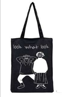 🚚 【Q夫妻】 shoulder bag 簡約 帆布包 手提包 購物包 單肩包 黑色Look款 B0014-6 #一百元好物