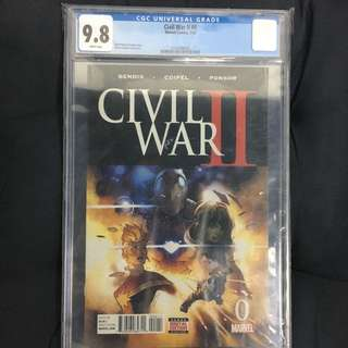 Civil War II 0 CGC Marvel Comics Book Avengers Movie