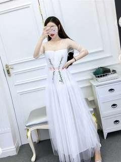 RCLPG051853 - Floral Mesh Maxi Dress