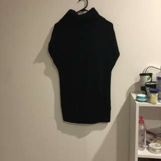 black turtleneck sleeveless