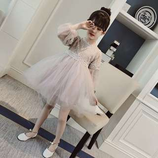 Korea style baby girl dinner dress