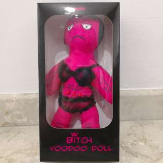 "Novelty ""Bitch"" Voodoo Doll - Pink, about 10 inch tall"