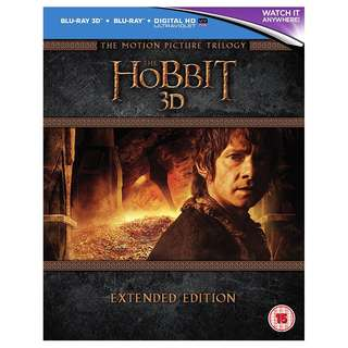The Hobbit Trilogy 3D Extended Edition Blu-ray