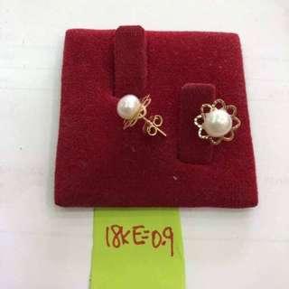 🌼 Earrings w/ pearl 🌼