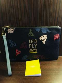 Reprice.. Fossil wrislet navy butterfly