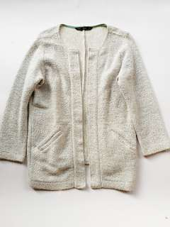 Forme light gray tweed blazer jacket
