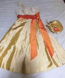 Gown with bag