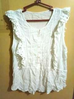 Zara white sleeveless top