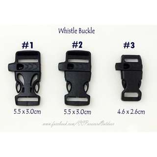 1pc Whistle Plastic Buckle for Paracord Bracelet Survival
