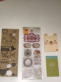 STICKERS, NOTEBOOKS all for just $1