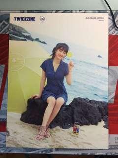 Twicezine Jeju island edition Jihyo海報