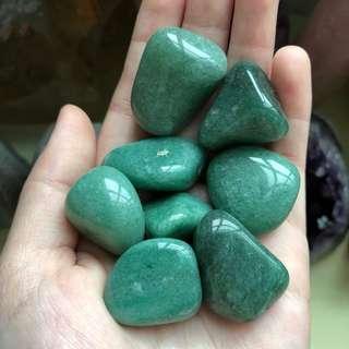 Green Aventurine Polished Tumbled Stones (Medium)