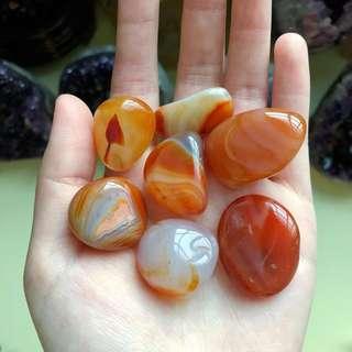 Carnelian Polished Tumbled Stones (Medium-Large)