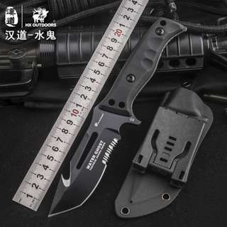 D2 Tactical High Hardness Straight Knife D2钢战术高硬度直刀D-162