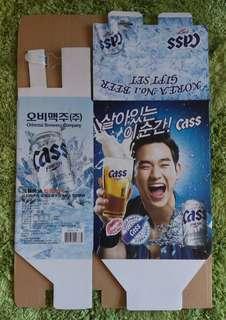 金秀賢 - 代言Cass啤酒紙盒
