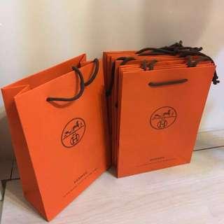 Hermes 愛馬仕小紙袋 paper bags