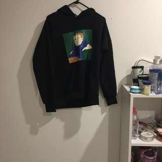 graphic black hoodie