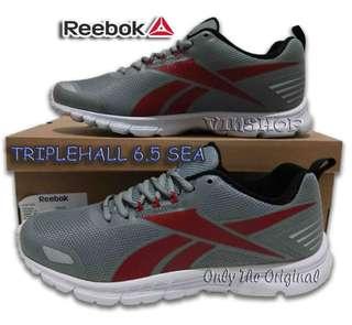 Sepatu REEBOK TRIPLEHALL 6.5 SEA. Men.Flat Gry/Red/Blk/Wht. CN1932. Running.