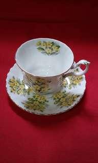 Cup and saucer bone china set