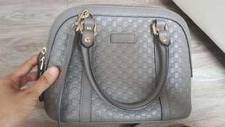 Authentic Mini Gucci Microguccissima Mini Dome Satchel Grey