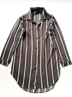 Black stripes oversize longsleeves