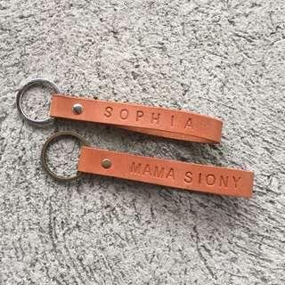 Personalized Keychain (Handstamped)