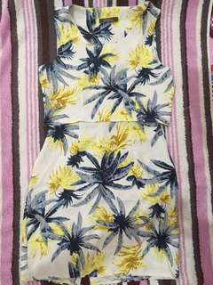 Palm Tree Crop Top and Skirt Coordinates