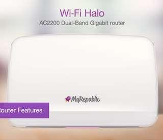Wi-Fi Halo AC2200 Dual Band Gigabit Router