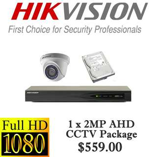 HIKvision 2MP AHD CCTV Package 1