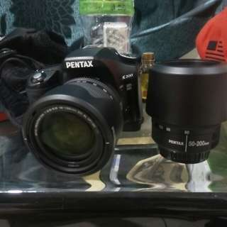 Pentax k200 dslr for sale
