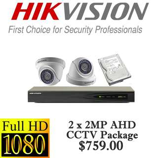 HIKvision 2MP AHD CCTV Package 2