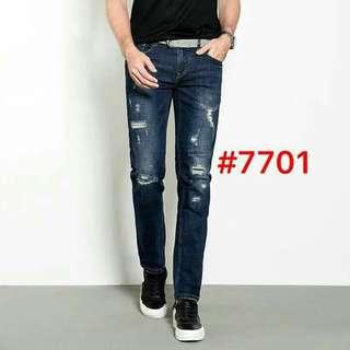 Men's tattered maong pants