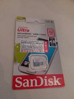 SanDisk ultra 32GB Micro SD Card