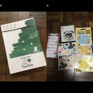 BNew 2018 Starbucks planner and notepads bundle