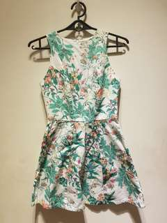Just G Sleeveless Floral Dress