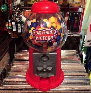 Vintage Plastic Pop Art Gum ball  candy machine
