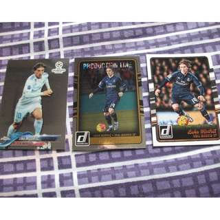 Luka Modric Topps/Panini trading cards for sale/trade(Lot of 3 cards)