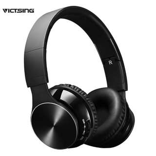 11. VicTsing Handsfree Bluetooth Wireless Headset with Mic and Wired Mode, Foldable Over Ear Headphones for PC, Smartphones