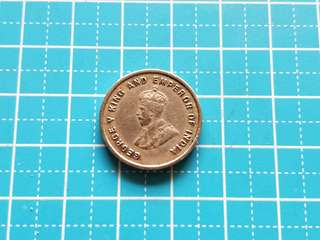 1920 Strait settlement King George v 5 cents coin