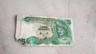 Duit lama RM5