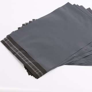 S / M / L 50pcs Black Grey Courier Flyer Plastic Bag Parcel Envelope Poslaju