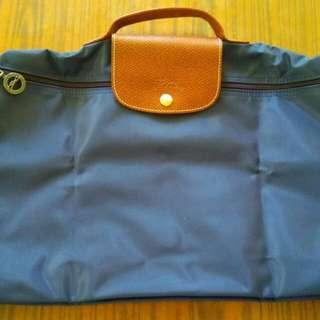 Longchamp 深藍色 navy 公事包 99.9%新