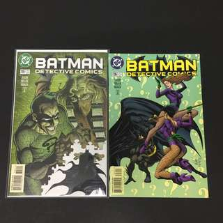 Detective Comics 705 & 706 DC Comics Book Batman Movie