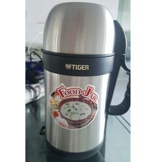 Tiger 0.9L thermal food jar 不鏽鋼燜燒罐