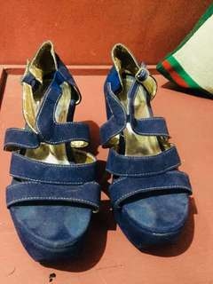 Blue Sandals wedge
